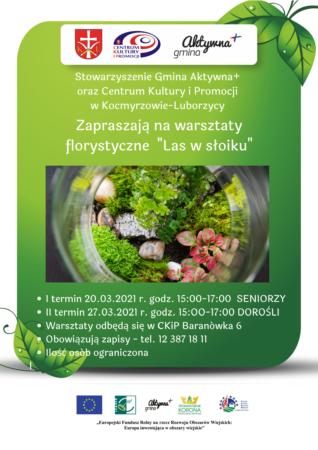 """Warsztaty florystyczne """"Las wSłoiku"""""""